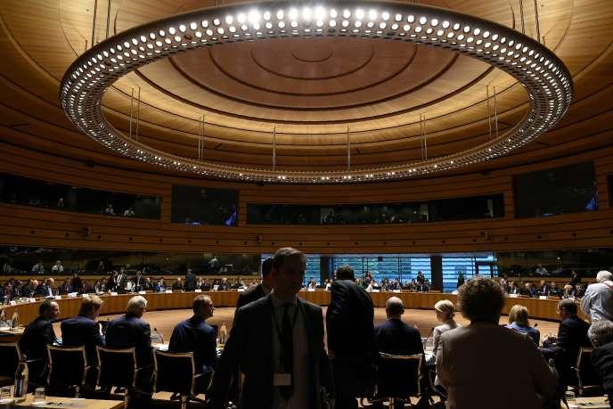 Lors de la réunion sur le Brexit à Luxembourg, le 15 octobre.