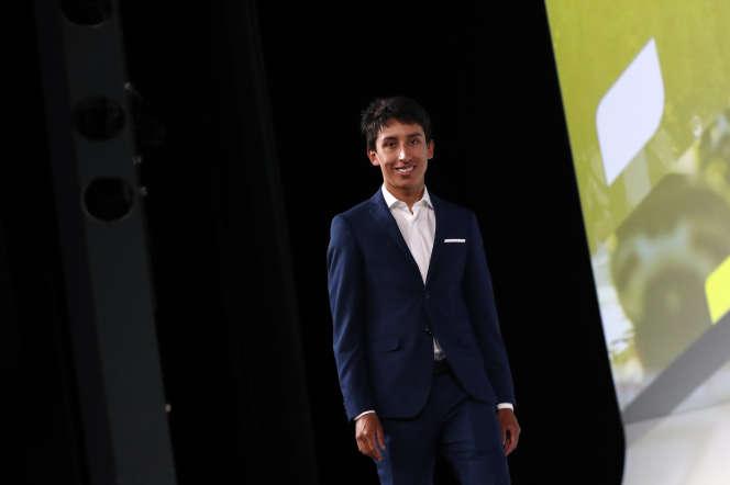 Egan Bernal, lors de la présentation du parcours du Tour de France 2020, mardi 15 octobre.