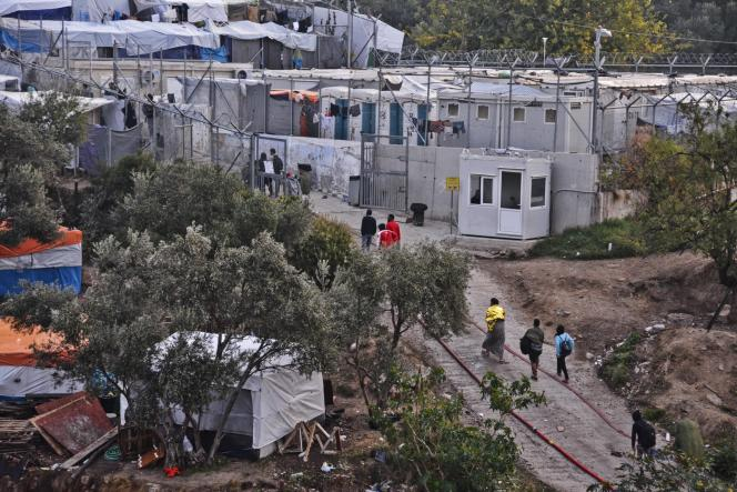Un camp de migrants sur l'île grecque deSamos, le 15 octobre.