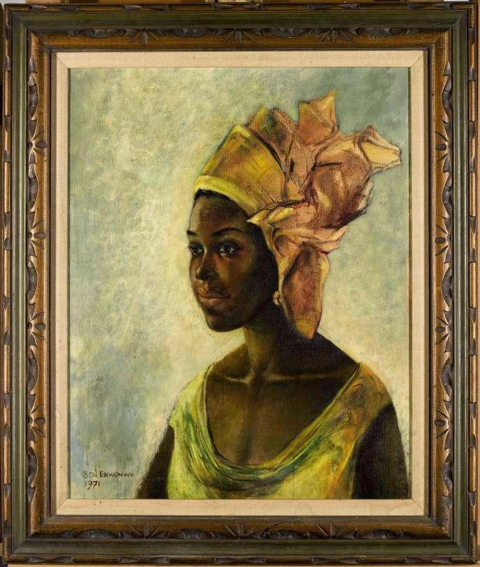 «Christine», de l'artiste nigérianBen Enwonwu, a été vendu 1,3 million d'euros, àLondres le 15 octobre.