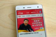 L'appli« Xuexi qiangguo » ouverte sur un smartphone, en février 2019.