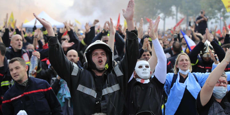 lemonde.fr - La manifestation des pompiers - en colère - à Paris marquée par des tensions avec la police