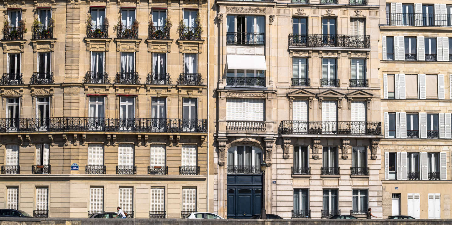 Europe, France , Ile de France, Paris 75004, façade d'immeubles donnant sur la Seine