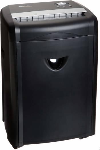 La meilleure déchiqueteuse haute sécurité Le destructeur de documents haute sécurité à micro-découpe capacité 12 feuilles avec corbeille amovible d'AmazonBasics