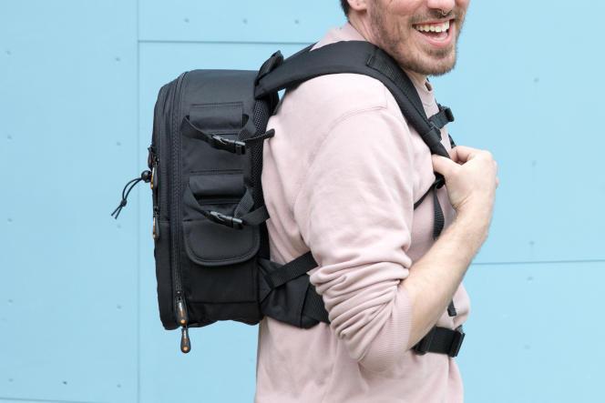 Le sac AmazonBasics est compact.