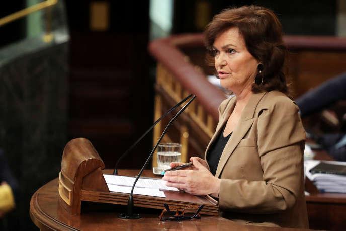 La vice-présidente socialiste du gouvernement espagnol à Madrid, le 13 septembre.