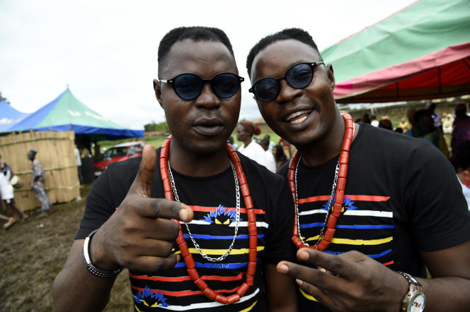 Le village d'Igbo-Ora, dans le sud-ouest du Nigeria, fête tous les ans en octobre les jumeaux.