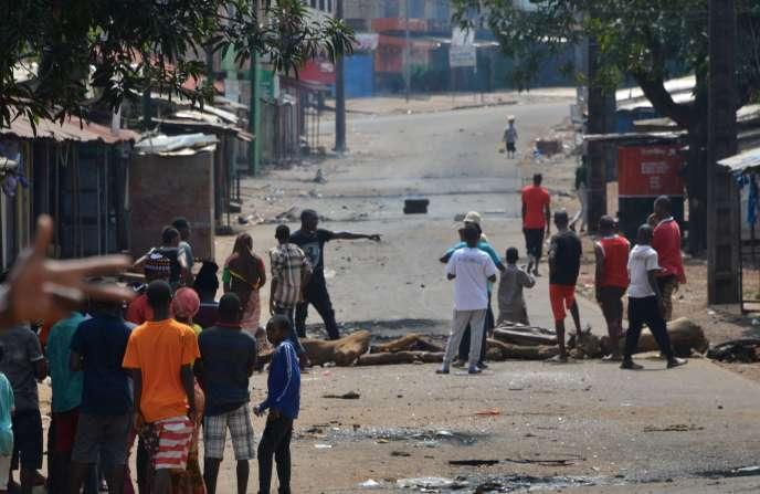 A Conakry, en Guinée, le 16 octobre.