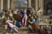 «Le Christ chassant les marchands du Temple», vers 1570. Huile sur toile, 116,9× 149,9cm.