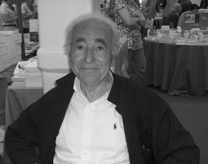 Pierre Kalfon, écrivain, journaliste et diplomate, au 18e Festival international de géographie de Saint-Dié des Vosges, en 2017.