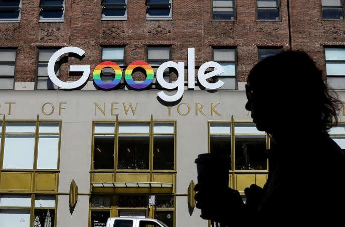 Devant les bureaux de Google, à New York, en juin.