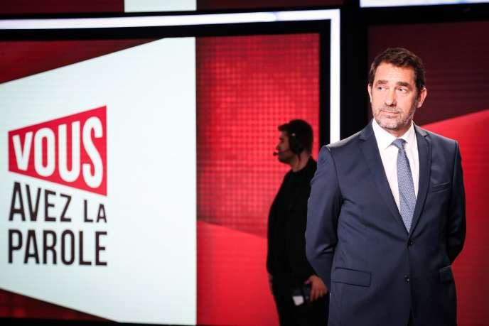 Christophe Castaner sur le plateau de l'émission