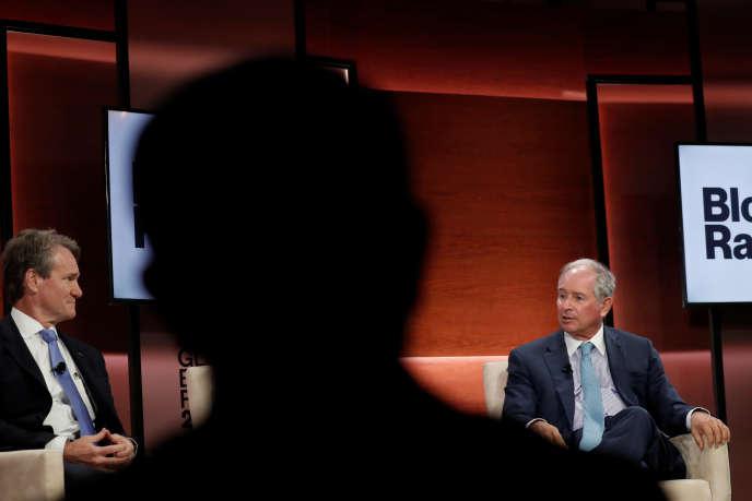 Stephen Schwarzman (à droite), cofondateur du fonds Blackstone, à New York, le 25 septembre.