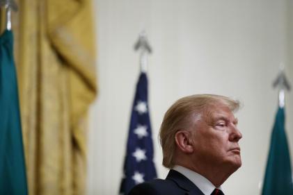 Le président Donald Trump à la Maison Blanche, le 16 octobre.