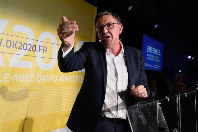 Le président de la métropole de Lyon et candidat à la Mairie, David Kimelfeld, à Lyon, en octobre 2019.