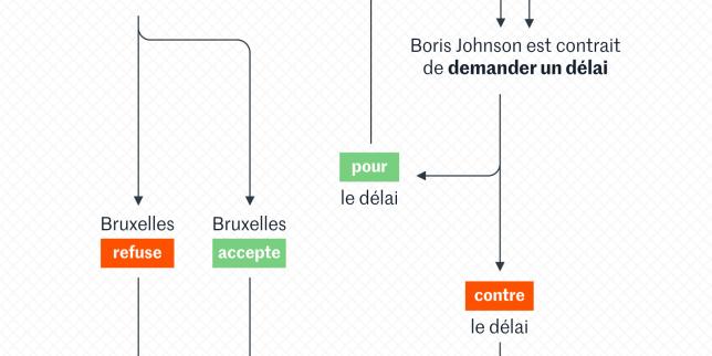 Le Brexit en schéma: que peut-il se passer après le nouvel accord conclu entre Londres et Bruxelles?