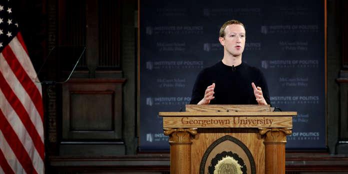Mark Zuckerberg défend la liberté d'expression, et se fait critiquer pour son double discours