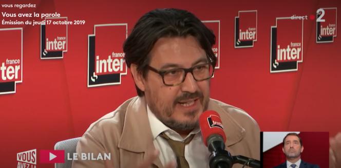 Christophe Castaner a été confronté aux propos du journaliste indépendant David Dufresne sur le plateau de France 2, jeudi 17 octobre.