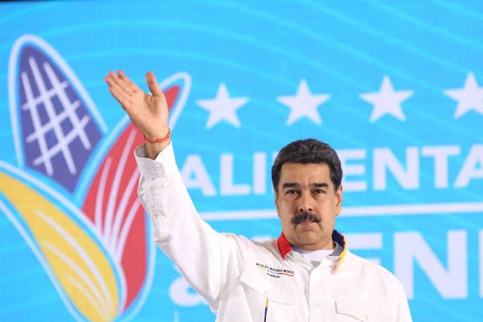 Le président vénézuélien Nicolas Maduro lors d'une émission de télévision, le 15 octobre à La Guaira (Venezuela).