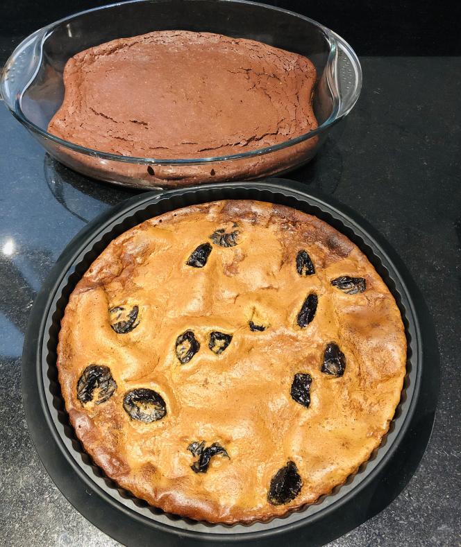 Le far et le gâteau au chocolat.