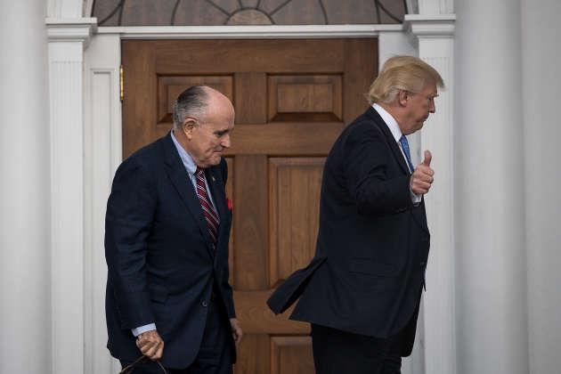Rudy Giuliani et Donald Trump au Trump International Golf Club à Bedminster, dans le New Jersey, en novembre 2016.