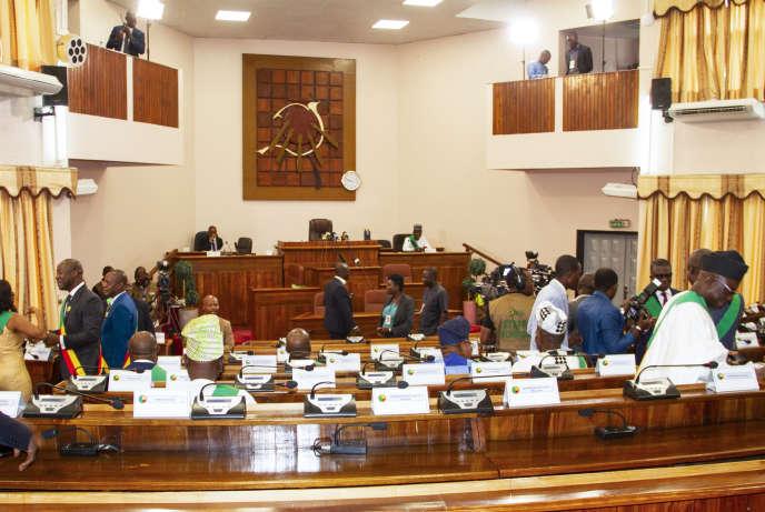 Le Parlement béninois à Porto Novo, en mai 2019.
