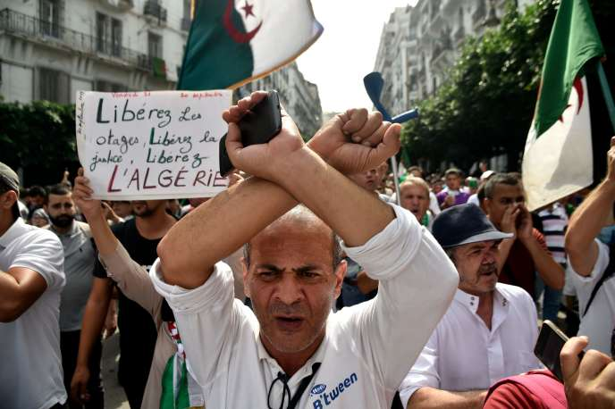 Anti-Government demonstration in Algiers, 20 September 2019.