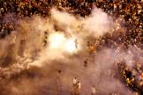 Tirs de gaz lacrymogènes sur les manifestants à Beyrouth, le 18 octobre 2019.