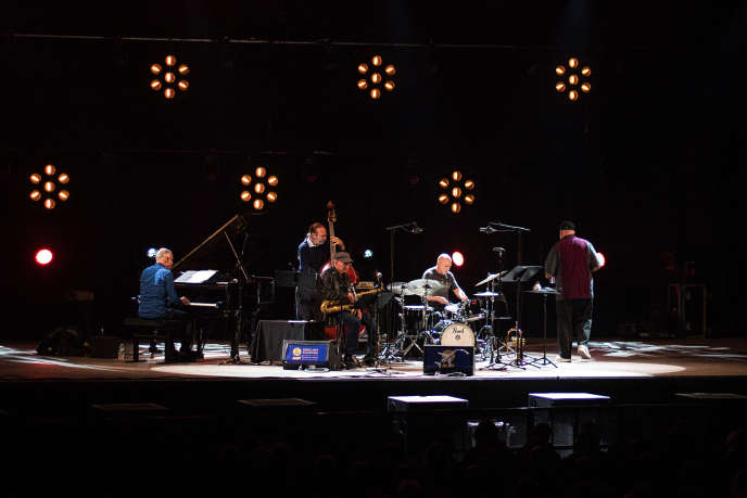 Liebman, Randy Brecker, Marc Copland, Drew Gress et Joey Baron aufestival Nancy Jazz Pulsations le 18 octobre 2019.