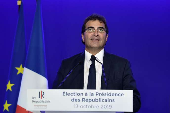 Le président LR Christian Jacob en conférence de presse à Paris, le 13 octobre.