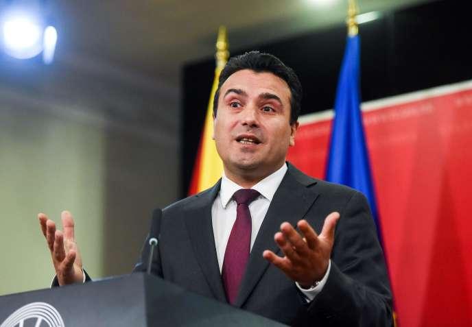 Le premier ministre macédonien Zoran Zaev, à Skopje, le 19 octobre.
