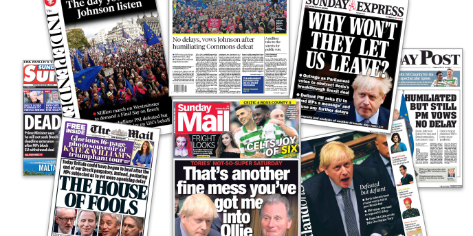 Au lendemain de la défaite de Boris Johnson, la presse britannique est divisée sur les événements.