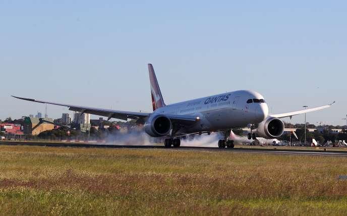 Après 19h16min de trajet depuis New York, le vol expérimental QF7879 de la compagnie Qantas a atterri à Sydney, en Australie, le 20 octobre.
