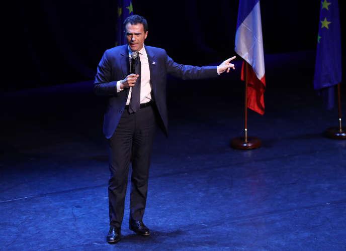 Sandro Gozi pendant la campagne pour les élections européennes, à Paris, le 6 mai.