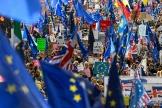 Des manifestants anti-Brexit à Londres samedi.