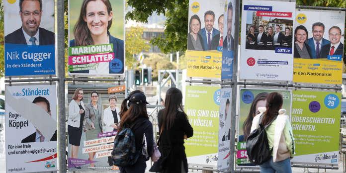 Les Suisses votent ce week-end pour élire leur Parlement