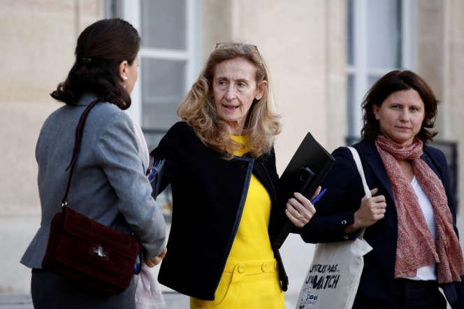 Nicole Belloubet, à l'Elysée, le 21 octobre.