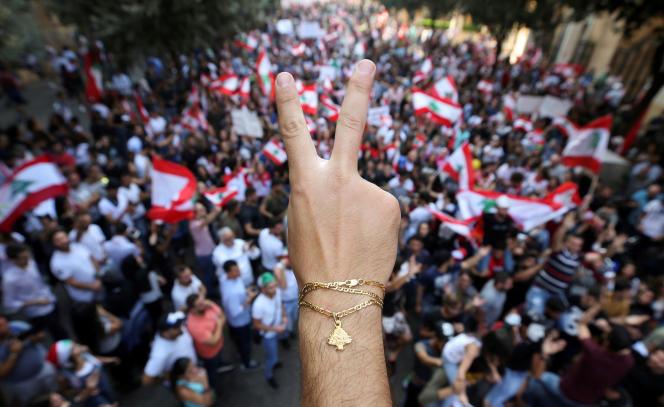 A Beyrouth, le 21 octobre.