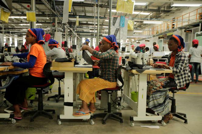Une usine textile du parc industriel de Hawassa, en Ethiopie, en novembre 2017.