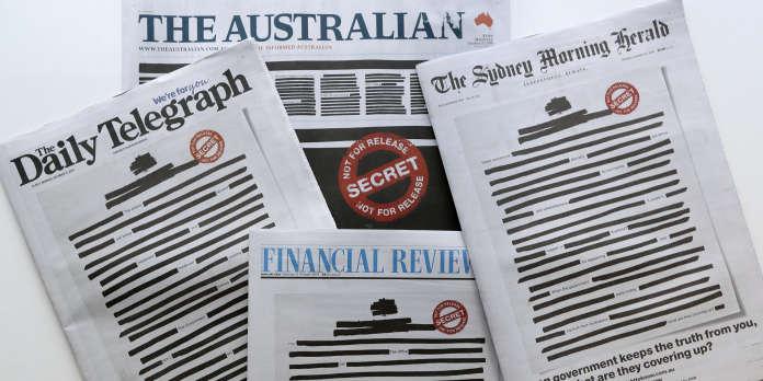 La « une » des journaux australiens caviardée pour protester contre la censure