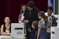 Justin Trudeau a voté en famille à Montréal, le 21 octobre.