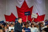 Le chef de file du Parti conservateur canadien, Andrew Scheer, lors d'un meeting à Richmond Hill (Ontario), le 19 octobre.
