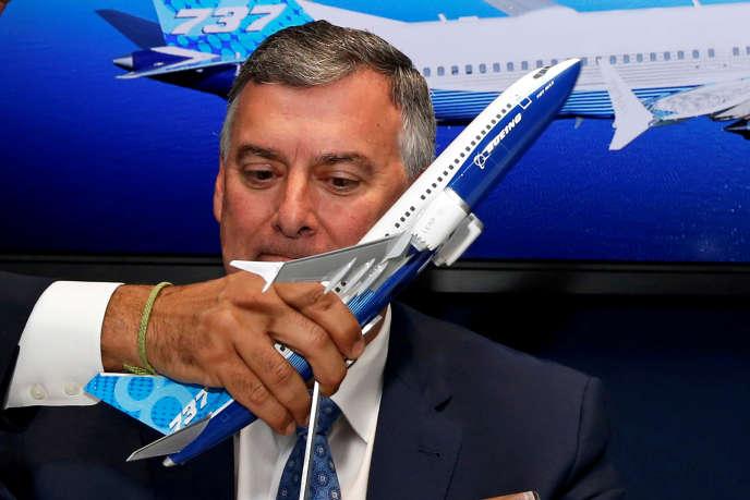 Kevin McAllister, responsable de la division d'aviation commerciale chez Boeing, au Bourget le 18 juin.