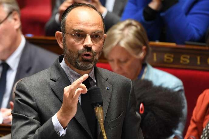 Le premier ministre, Edouard Philippe, à l'Assemblée nationale, mardi 22 octobre.