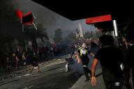 Manifestation contre le modèle économique chilien à Santiago, le 21 octobre 2019.