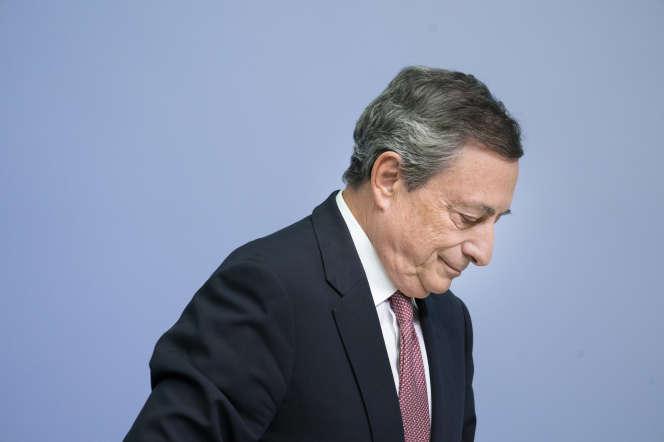 Mario Draghi, le président de la Banque centrale européenne, à Francfort, le 13 septembre 2018.
