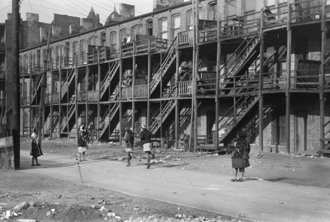 Dans le South Side, quartier noir de Chicago (Illinois), en 1941.