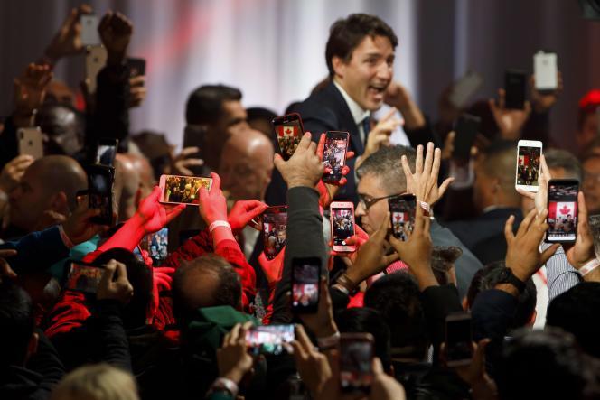 Le premier ministre canadien, Justin Trudeau, le 21 octobre, à Montréal.