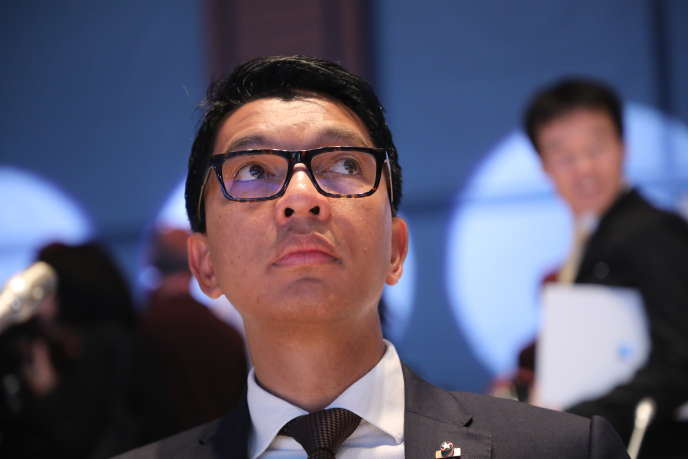 Le président malgache, Andry Rajoelina, à Lyon, en France, le 10octobre 2019.