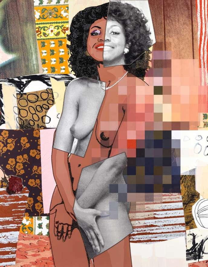 Un collage réalisé par l'artiste américaine Mickalene Thomas.